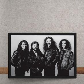 Quadro Decorativo Metallica Fotografia Antiga 25x35