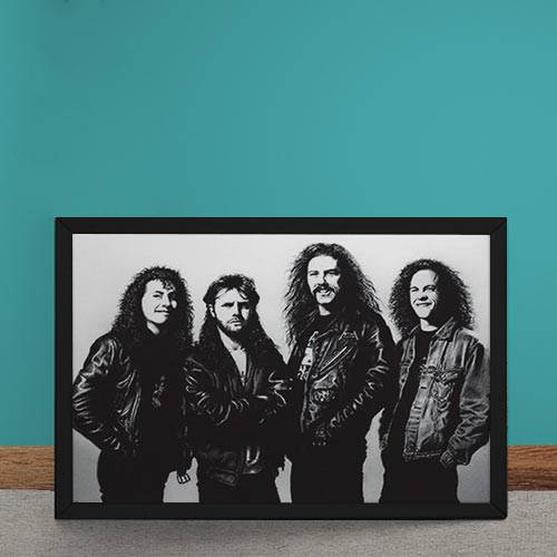Quadro Decorativo Metallica Fotografia Antiga