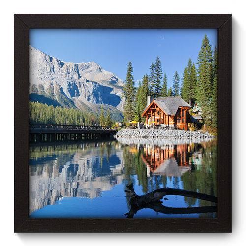 Quadro Decorativo - Montanha - 22cm X 22cm - 076qnpap