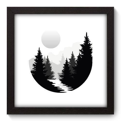 Quadro Decorativo - Montanha - 22cm X 22cm - 170qnaap