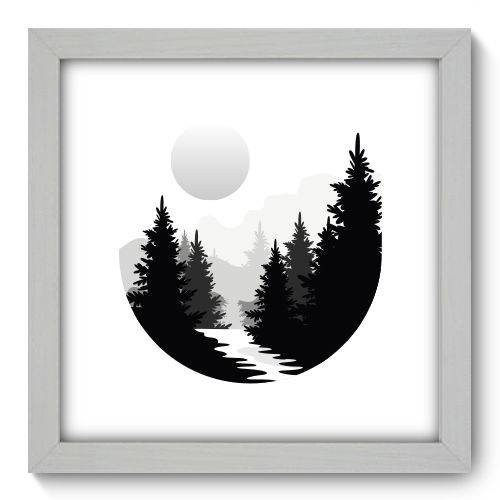 Quadro Decorativo Montanha N1170 22cm X 22cm