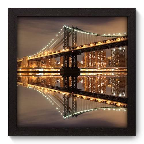 Quadro Decorativo - New York - 22cm X 22cm - 017qnmap