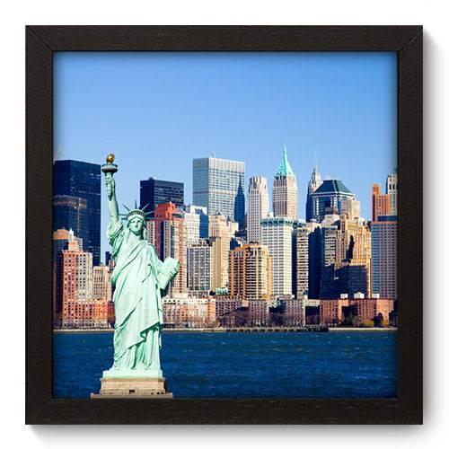 Quadro Decorativo - New York - 22cm X 22cm - 045qnmap