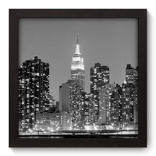 Quadro Decorativo - New York - 22cm X 22cm - 043qnmap