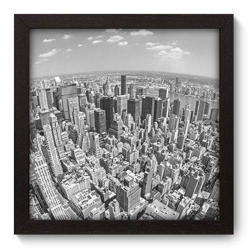 Quadro Decorativo - New York - 22cm X 22cm - 069qnmap