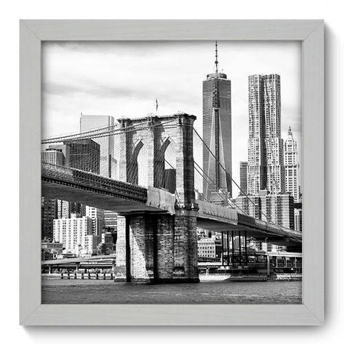 Quadro Decorativo - New York - 22cm X 22cm - 029qnmab