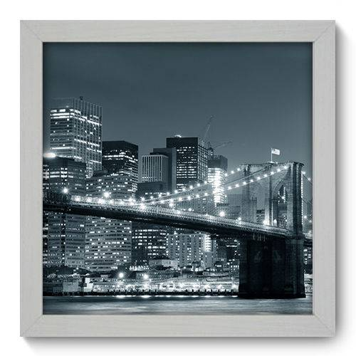 Quadro Decorativo - New York - 22cm X 22cm - 032qnmab
