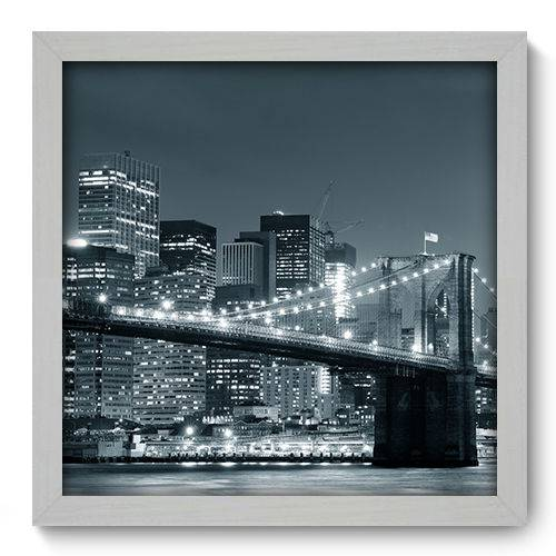 Quadro Decorativo - New York - N2032 - 33cm X 33cm