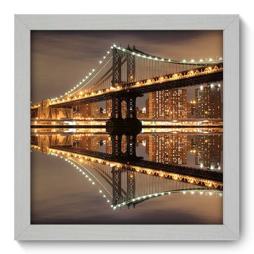 Quadro Decorativo New York N1017 22cm X 22cm