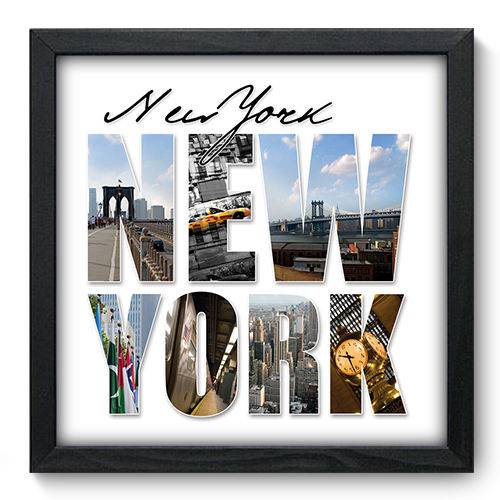 Quadro Decorativo New York N6015 33cm X 33cm