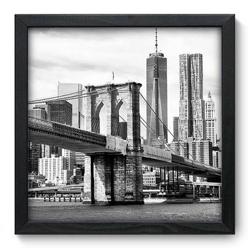 Quadro Decorativo New York N6029 33cm X 33cm