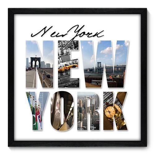 Quadro Decorativo - New York - N7015 - 50cm X 50cm