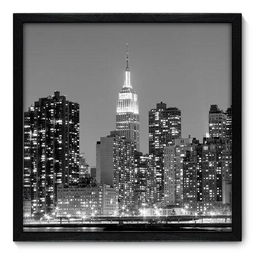 Quadro Decorativo - New York - N7043 - 50cm X 50cm