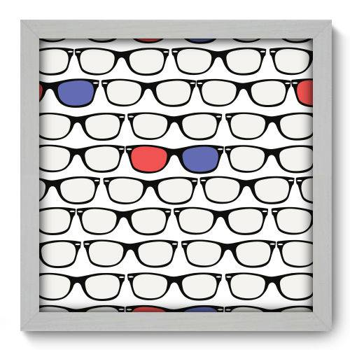 Quadro Decorativo - Óculos - 33cm X 33cm - 095qndbb