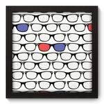 Quadro Decorativo Óculos N5095 22cm X 22cm