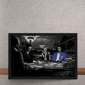 Quadro Decorativo Poker Marylin Monroe Elvis Presley James Dean Humphrey Bogart 25x35