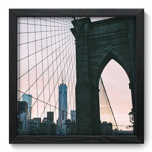 Quadro Decorativo Ponte do Brooklyn N6099 33cm X 33cm