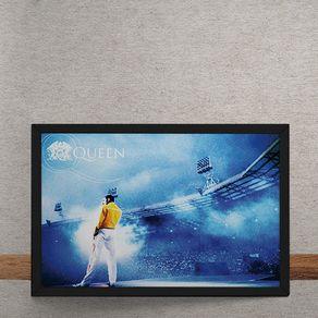 Quadro Decorativo Queen Freddie Mercury no Estadio 25x35