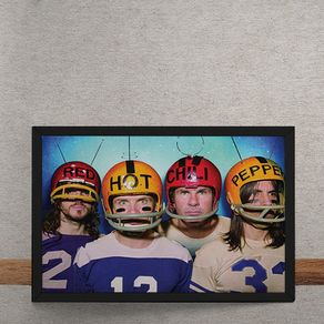 Quadro Decorativo Red Hot Chili Peppers Futebol Americano 25x35