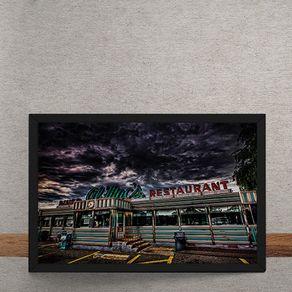 Quadro Decorativo Restaurante Al Macs 25x35