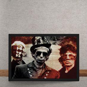 Quadro Decorativo Rolling Stones Fantasias 25x35