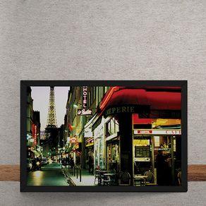 Quadro Decorativo Ruas de Paris 25x35