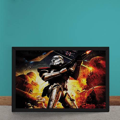 Quadro Decorativo Star Wars Stom Trooper