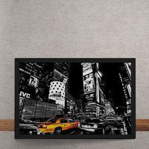 Quadro Decorativo Taxis Nova Iorque 25x35