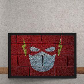 Quadro Decorativo The Flash Mural Minimalista Chapiscado DC Comics 25x35