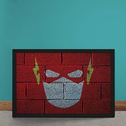 Quadro Decorativo The Flash Mural Minimalista Chapiscado Dc Comics
