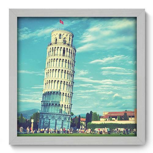 Quadro Decorativo - Torre de Pisa - 33cm X 33cm - 004qnmbb