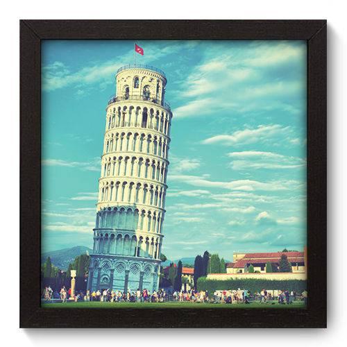 Quadro Decorativo Torre de Pisa N5004 22cm X 22cm