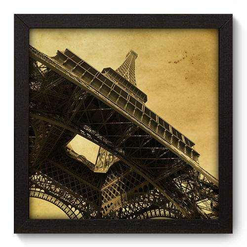 Quadro Decorativo - Torre Eiffel - 22cm X 22cm - 019qnmap
