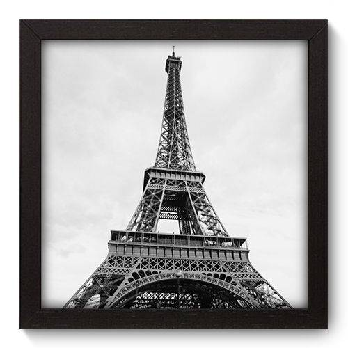 Quadro Decorativo - Torre Eiffel - 22cm X 22cm - 012qnmap