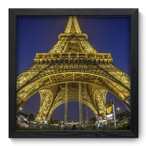 Quadro Decorativo - Torre Eiffel - 33cm X 33cm - 036qnmbp