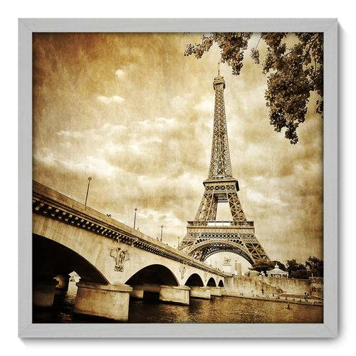 Quadro Decorativo - Torre Eiffel - N3016 - 50cm X 50cm