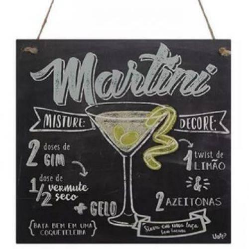 Quadro Decorativo Uatt Martini 18 X 18 Cm