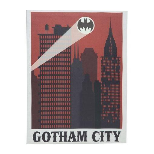 Quadro Decorativo Vermelho Bat Sinal Gothan City 30x40cm Urban