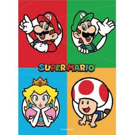 Quadro em Metal Super Mario Personagens