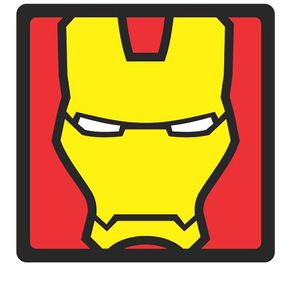 Quadro Faces Homem de Ferro Marvel - 20x20