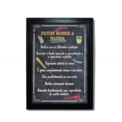 Quadro Fatos Barba 33x24 - Moldura Preta