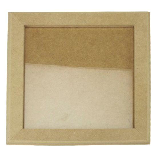 Quadro Moldura com Vidro em MDF 25x25x1cm - MDF