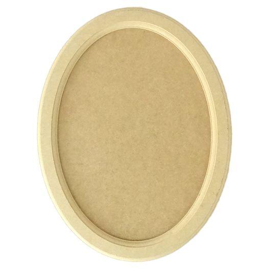 Quadro Moldura Oval Grande em MDF