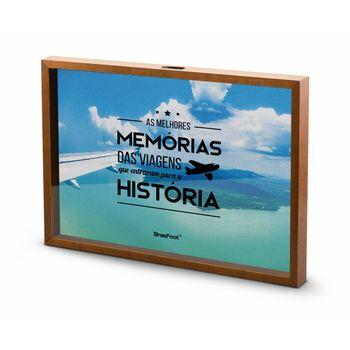 Quadro Peq Vidro Viagem - as Melhores Memórias