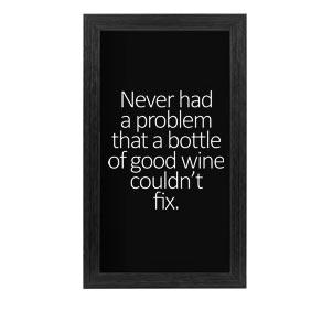 Quadro Porta Rolhas de Vinho Resolve Qualquer Problema