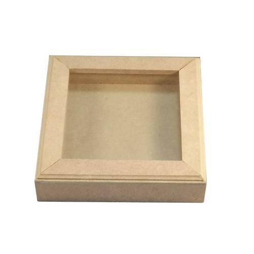 Quadro Scrapbook 10x10 com Vidro - Mdf