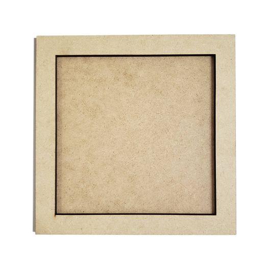 Quadro Simples Quadrado 20x20 em MDF