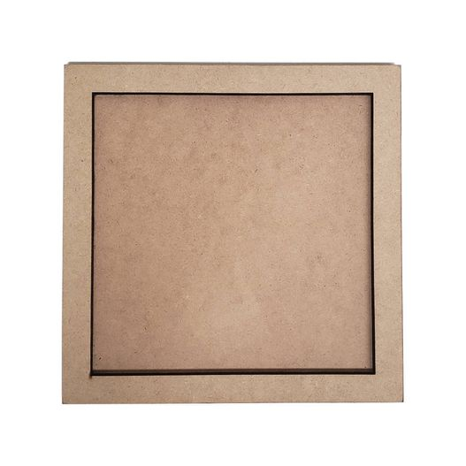 Quadro Simples Quadrado 24x24 em MDF