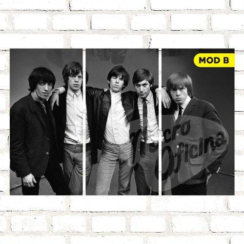 Quadro Triplo Decorativo - Rolling Stones - Modelo B