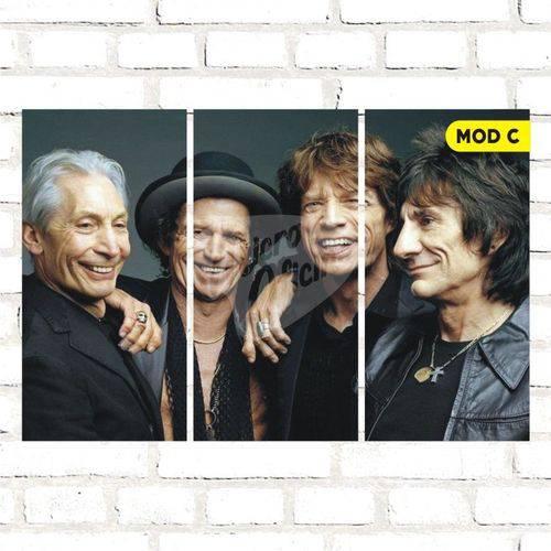 Quadro Triplo Decorativo - Rolling Stones - Modelo C